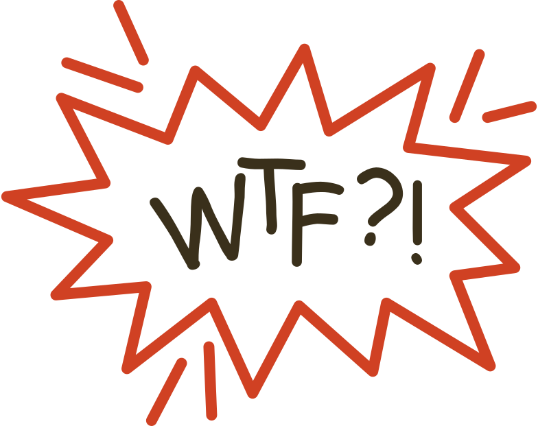 wtf Clipart illustration in PNG, SVG
