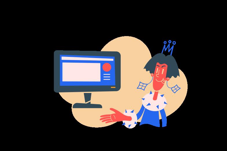 Website is online  Clipart illustration in PNG, SVG