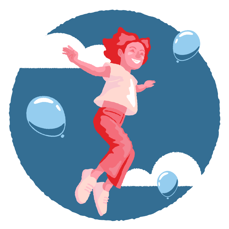 Jump higher than the sky Clipart illustration in PNG, SVG