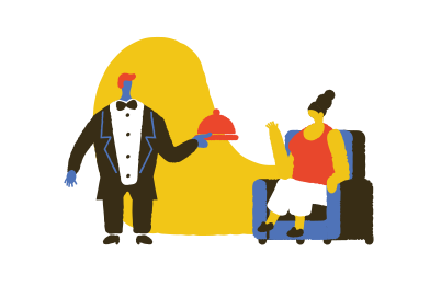 style Waiter at the restaurant images in PNG and SVG | Icons8 Illustrations