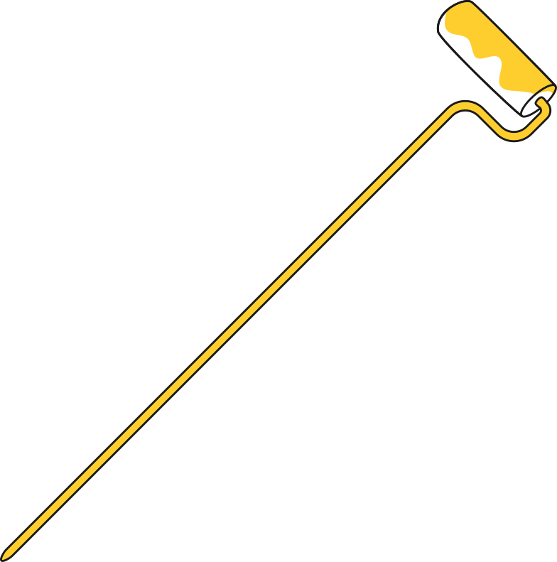 taxi  paint roller Clipart illustration in PNG, SVG
