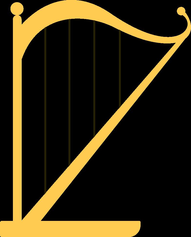harp Clipart illustration in PNG, SVG