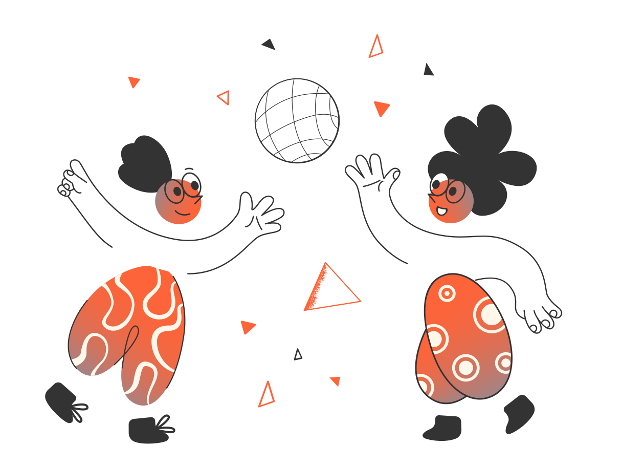 Kids playing Clipart illustration in PNG, SVG
