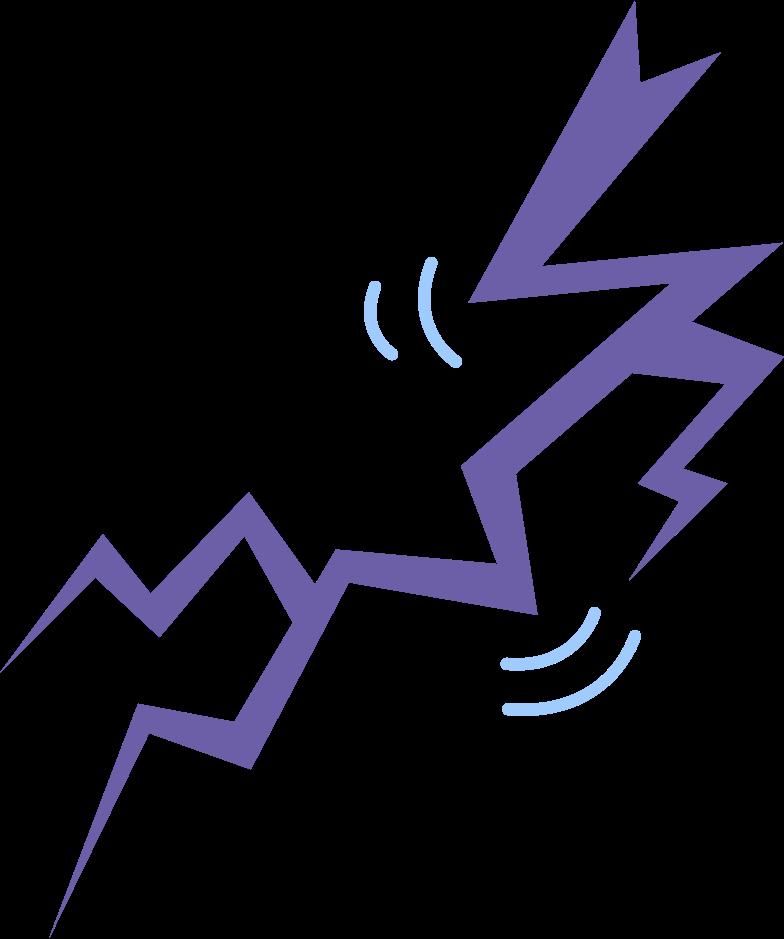 lightning bolt Clipart illustration in PNG, SVG