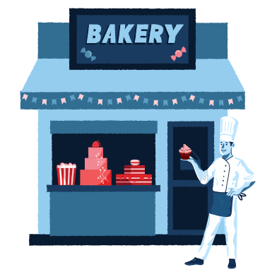 style Bakery shop images in PNG and SVG | Icons8 Illustrations