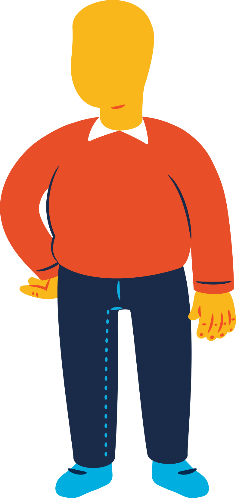 chubby man standing Clipart illustration in PNG, SVG