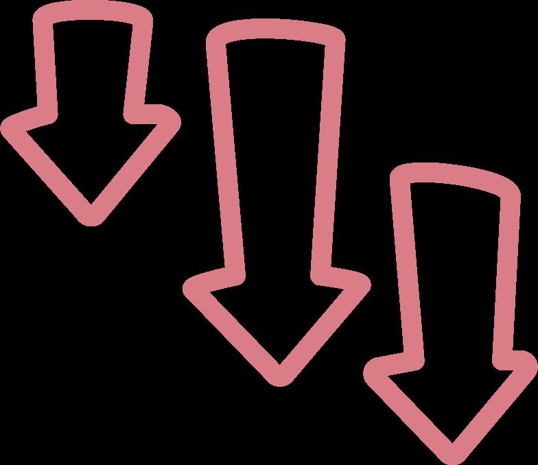 tk 3 red arrows Clipart illustration in PNG, SVG