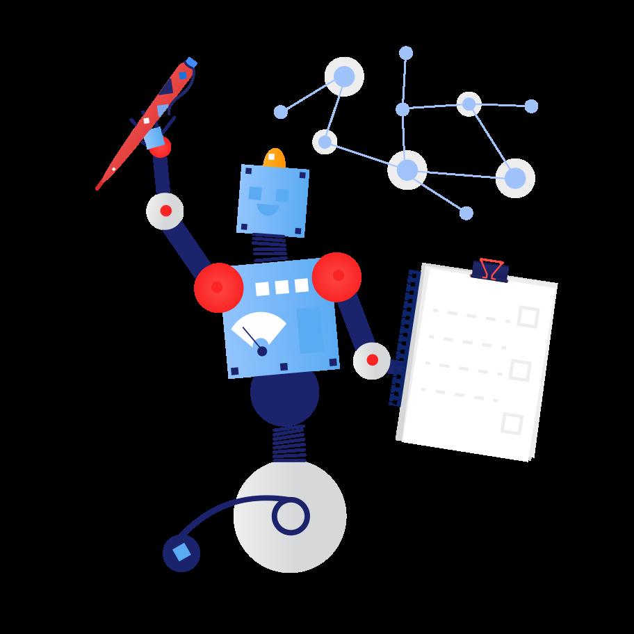 Logistic robot Clipart illustration in PNG, SVG