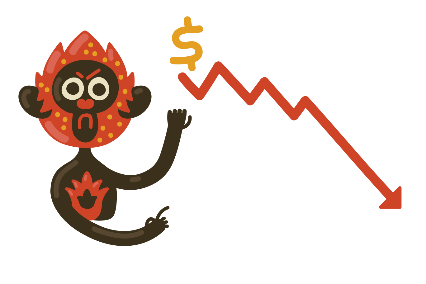 Fall in the dollar Clipart illustration in PNG, SVG