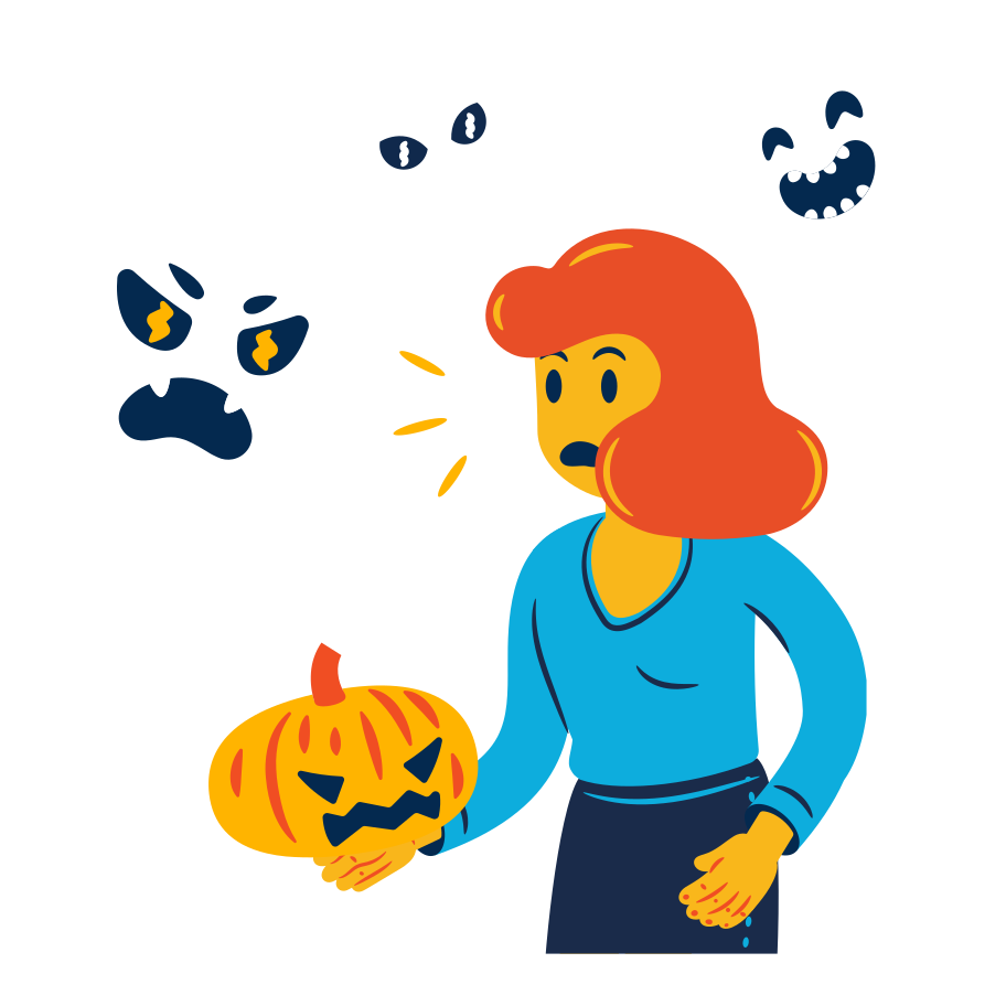 Spooky season  Clipart illustration in PNG, SVG