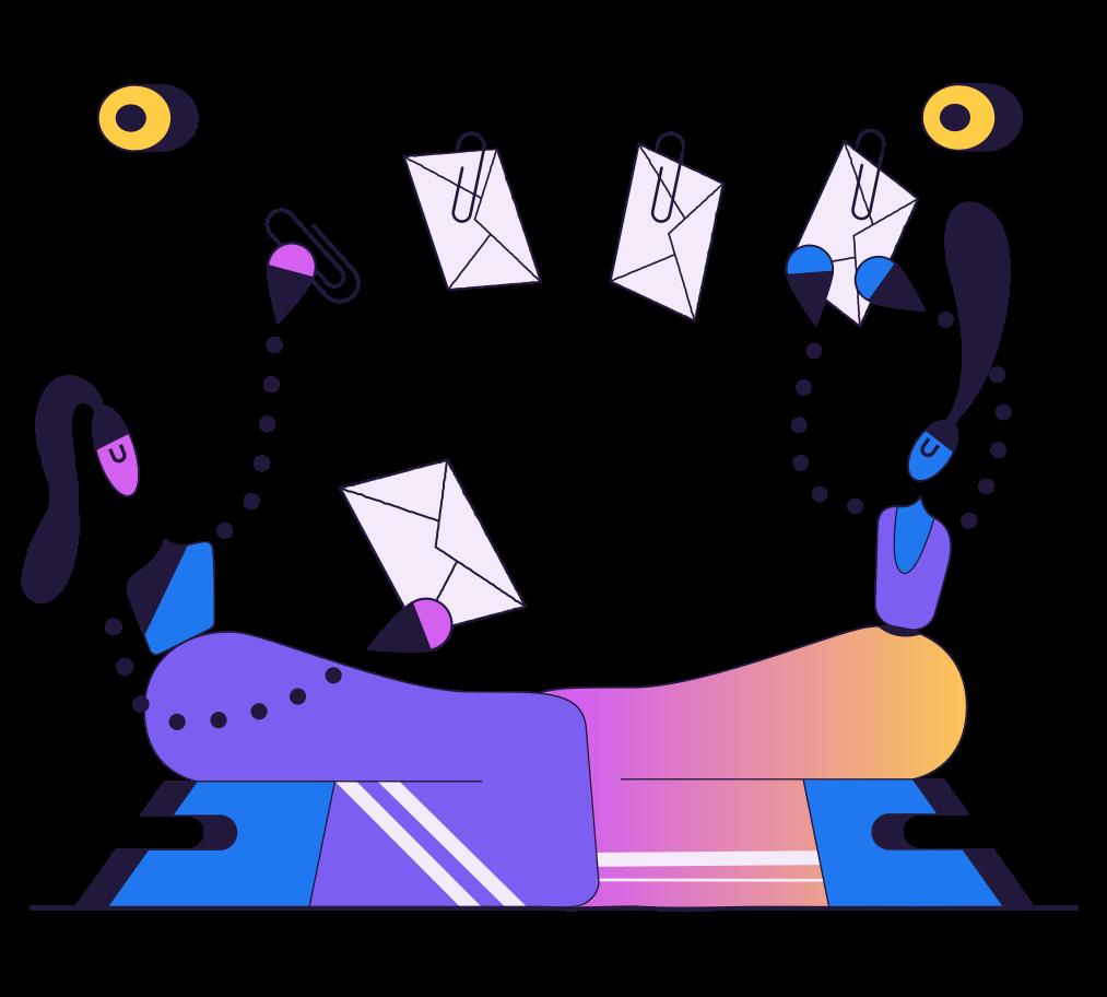 Sending letters Clipart illustration in PNG, SVG