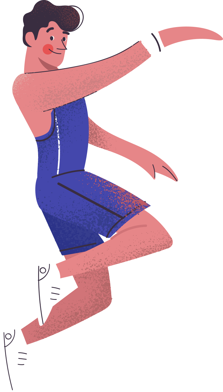 man playing basketball Clipart illustration in PNG, SVG