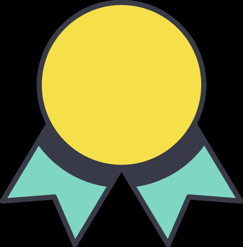 Ilustración de clipart de medalla en PNG, SVG