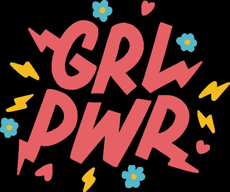 grl-pwr Clipart illustration in PNG, SVG