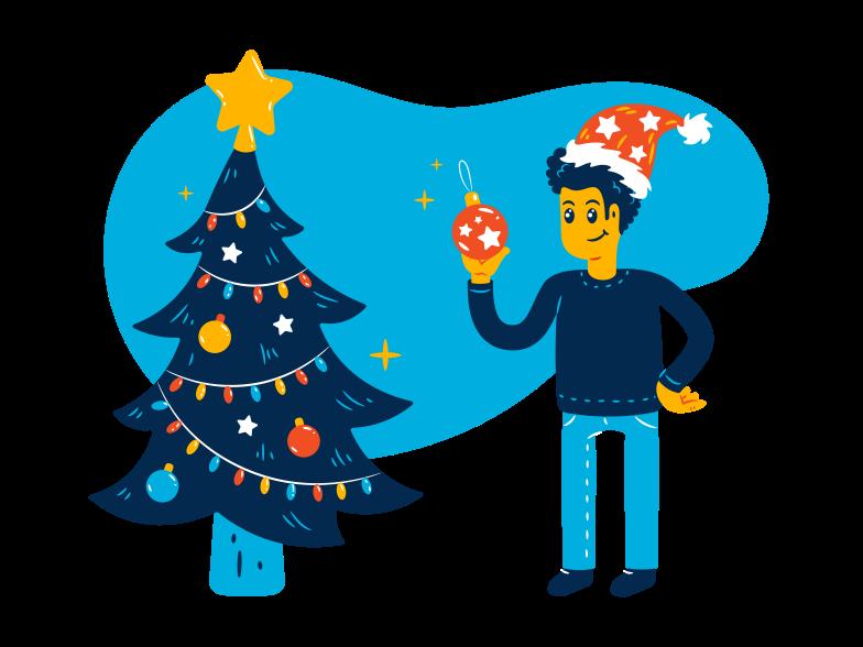 PNGとSVGの  スタイルの クリスマスツリーを飾る ベクターイメージ | Icons8 イラスト