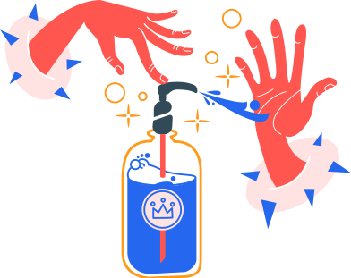 style washing hands with an antiseptic images in PNG and SVG | Icons8 Illustrations