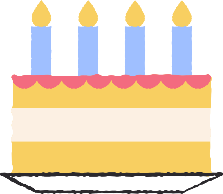 Geburtstagskuchen Clipart-Grafik als PNG, SVG