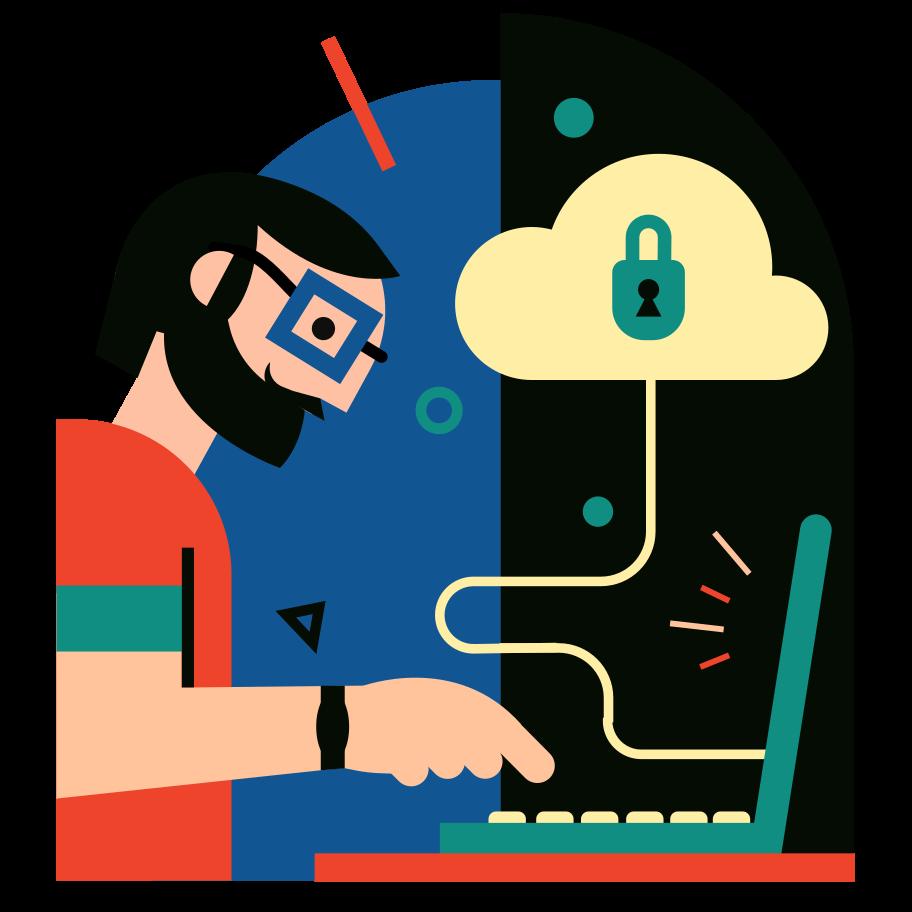 Cloud storage Clipart illustration in PNG, SVG