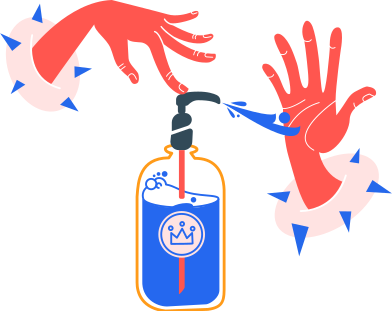 style washing hands with an antiseptic without bubbles images in PNG and SVG | Icons8 Illustrations