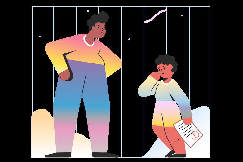 Bad grade Clipart illustration in PNG, SVG