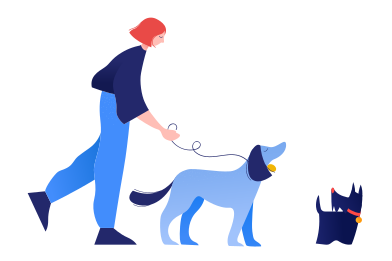 style Dog walking images in PNG and SVG | Icons8 Illustrations