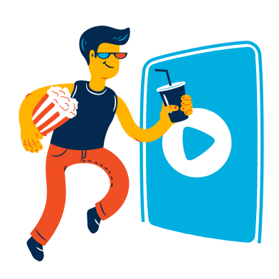 style Man goes to the cinema images in PNG and SVG | Icons8 Illustrations
