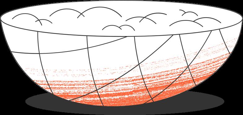 big bowl Clipart illustration in PNG, SVG
