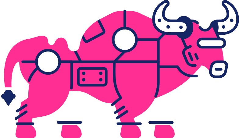 style bull in snow Vector images in PNG and SVG | Icons8 Illustrations