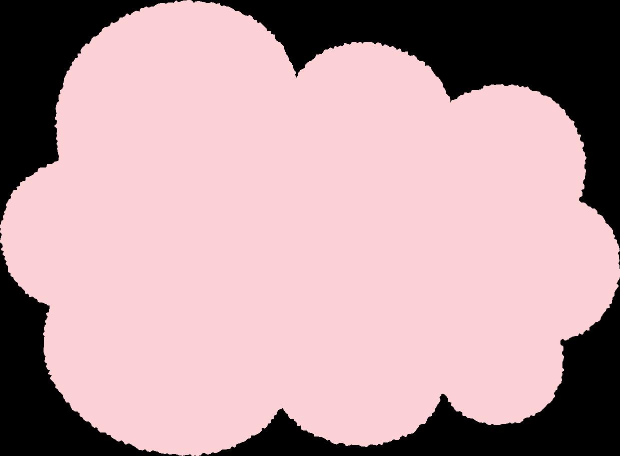 Ilustración de clipart de Nube rosa en PNG, SVG