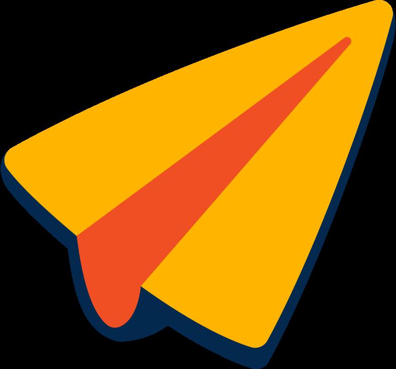 message plane Clipart illustration in PNG, SVG