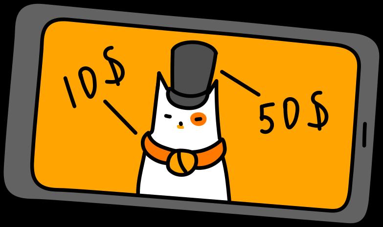 Иллюстрация распродажа в телефоне в стиле  в PNG и SVG | Icons8 Иллюстрации