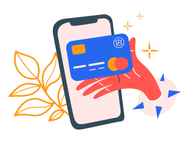 style Paying with card online  images in PNG and SVG | Icons8 Illustrations
