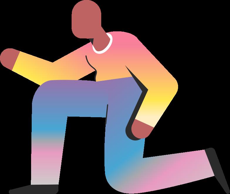 old on knee Clipart illustration in PNG, SVG