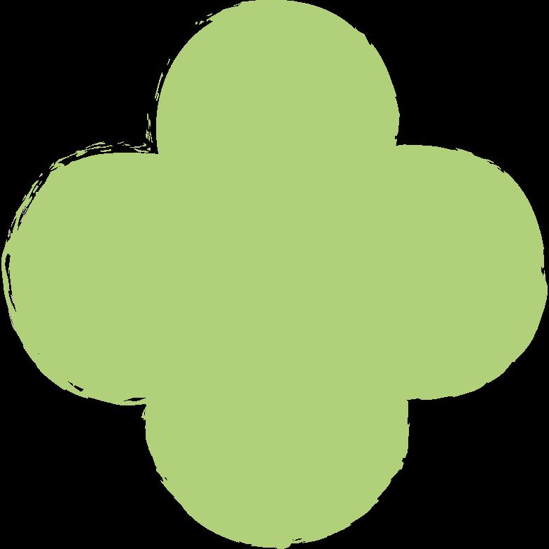 quatrefoil-green Clipart illustration in PNG, SVG