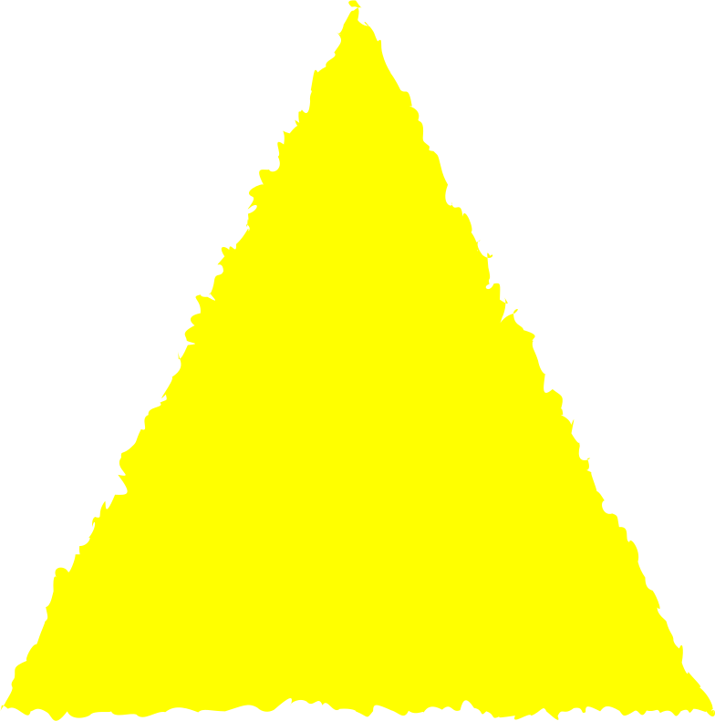 triangle yellow Clipart illustration in PNG, SVG