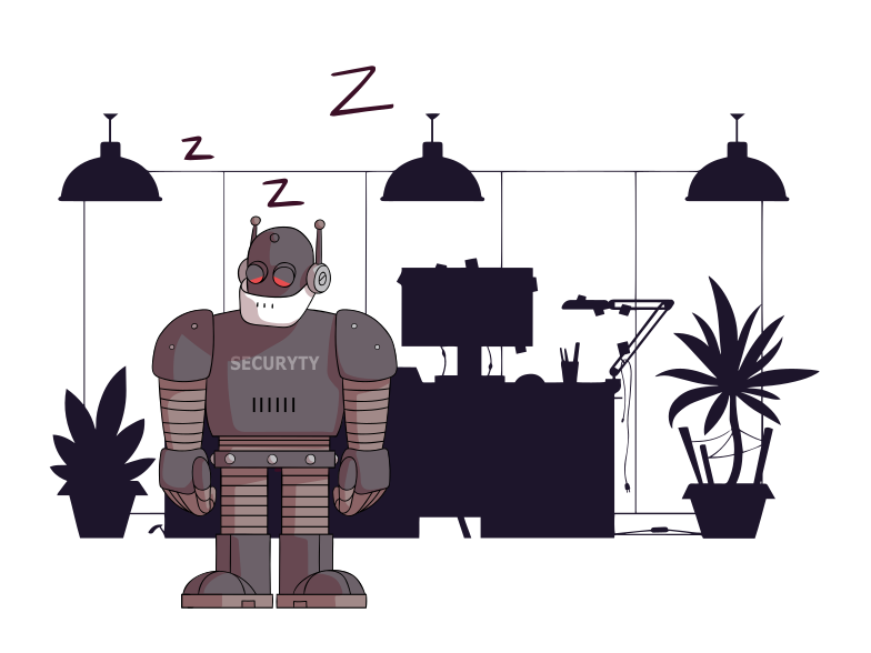 Lonely security Clipart illustration in PNG, SVG