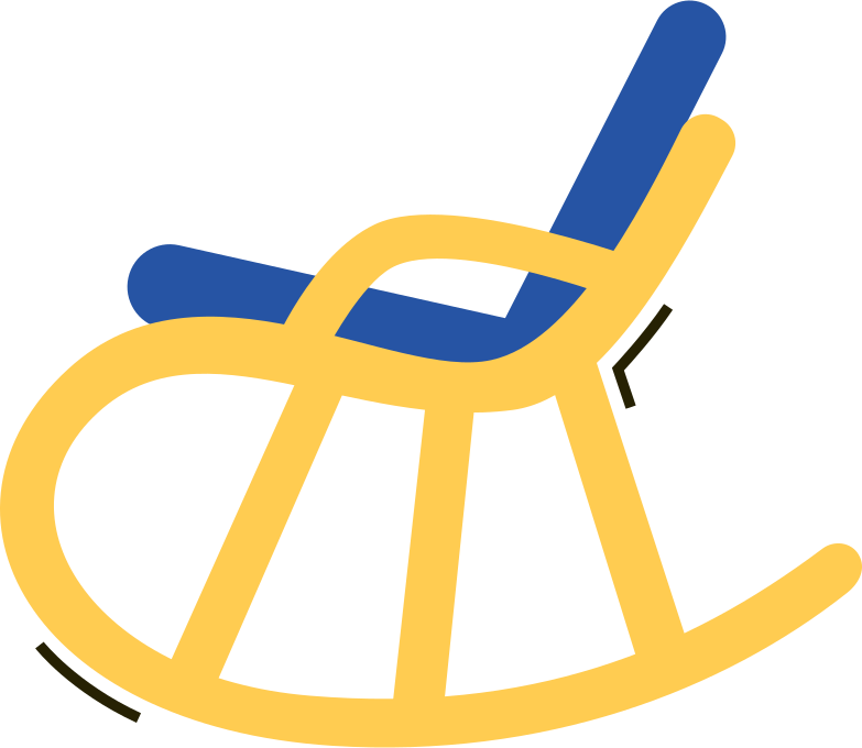 rocking chair Clipart illustration in PNG, SVG