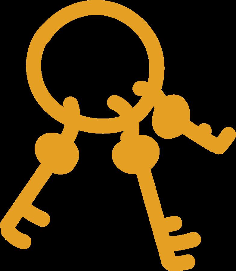 bunch of keys Clipart illustration in PNG, SVG