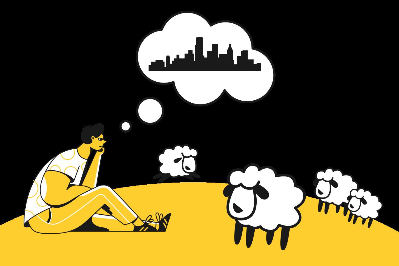 Dreaming big Clipart illustration in PNG, SVG