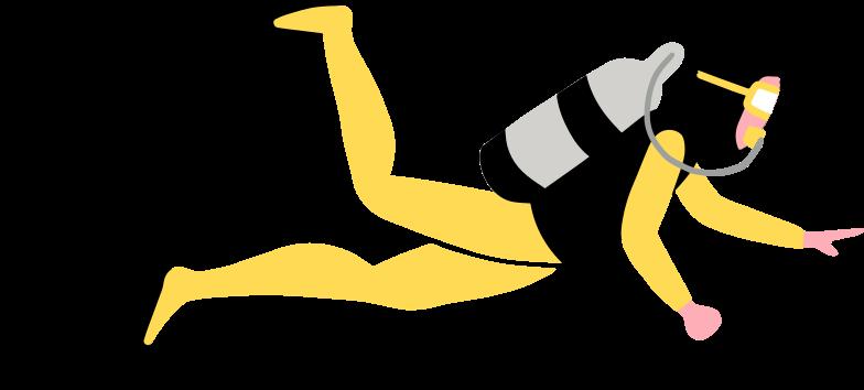 diver Clipart illustration in PNG, SVG