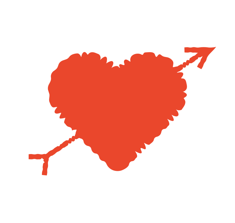 heart with an arrow Clipart illustration in PNG, SVG