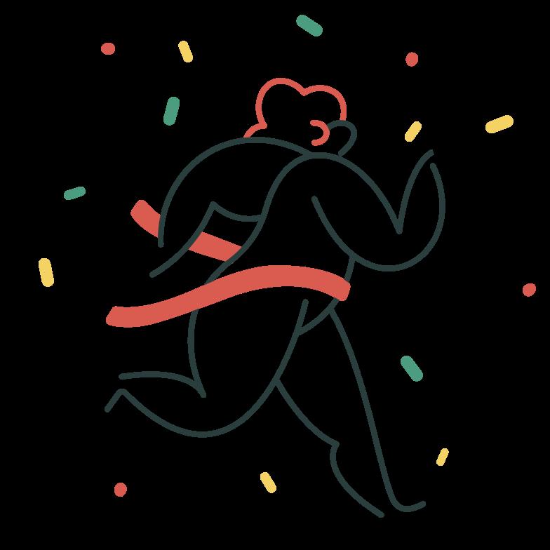 Finish line Clipart illustration in PNG, SVG