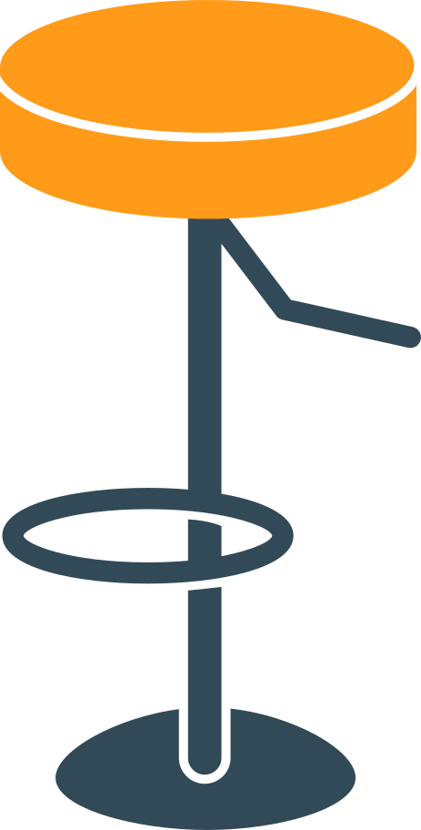 bar chair Clipart illustration in PNG, SVG