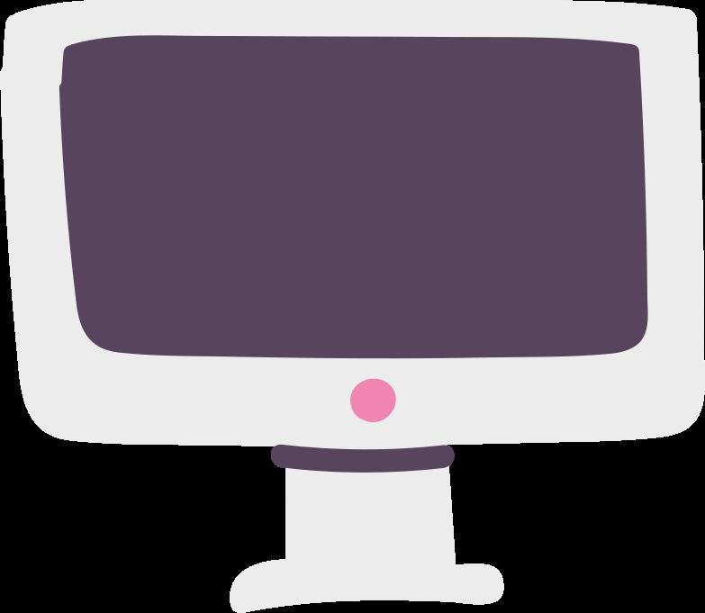 Ilustración de clipart de Monitor de computadora en PNG, SVG