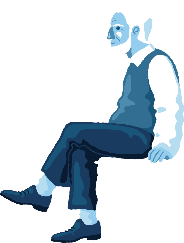 style old man sitting profile Vector images in PNG and SVG | Icons8 Illustrations