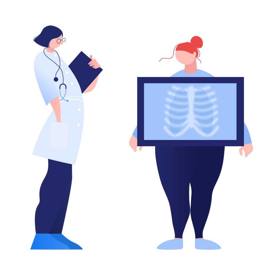 Lung x-ray Clipart illustration in PNG, SVG