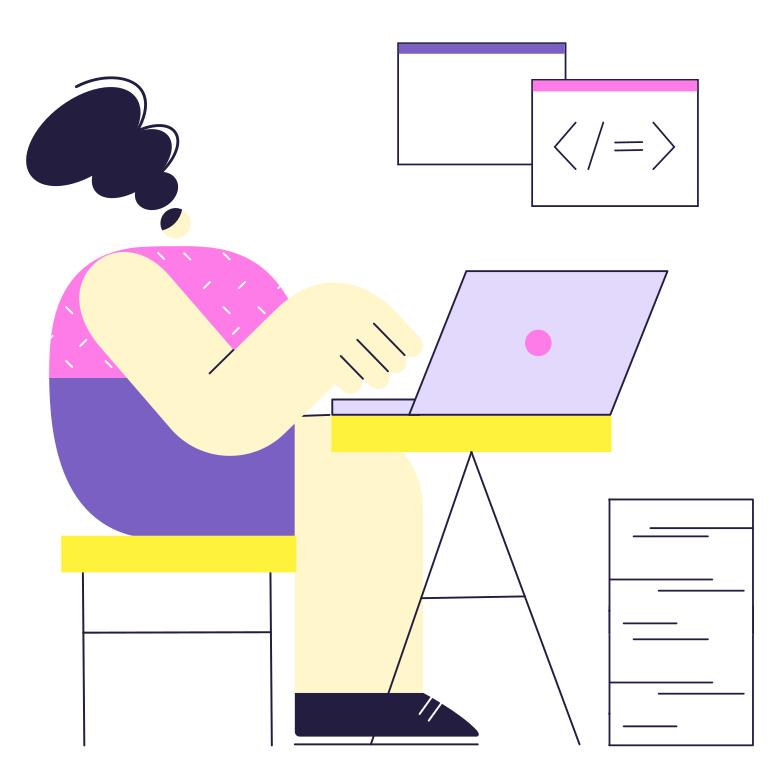 style Programmer's work Vector images in PNG and SVG | Icons8 Illustrations