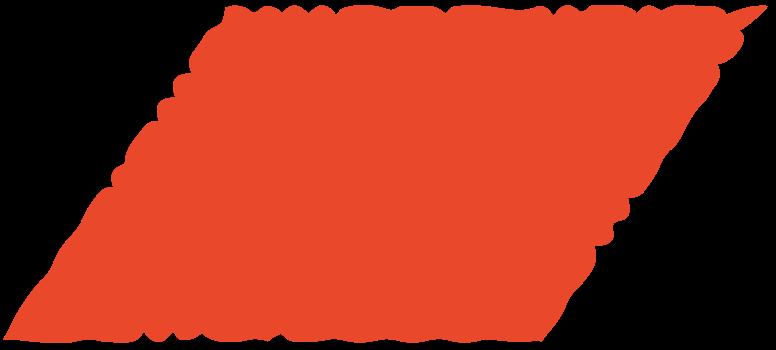 parallelogram red Clipart-Grafik als PNG, SVG