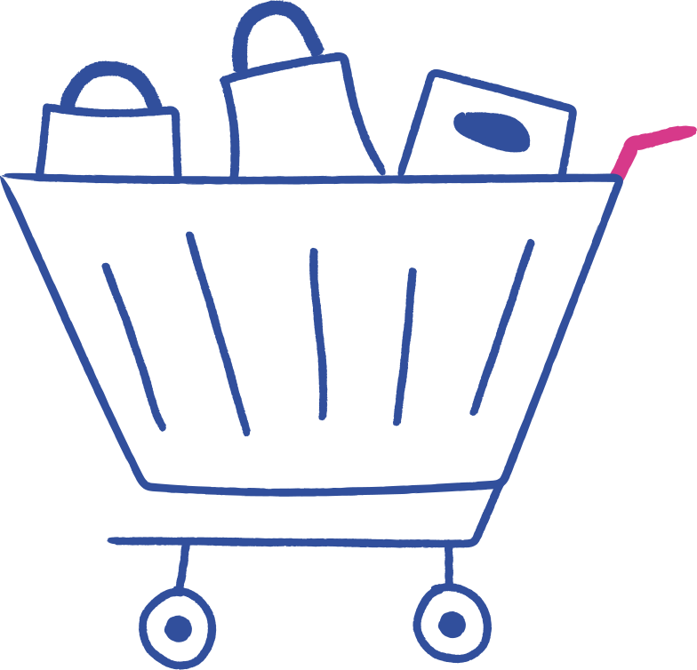 style grocery cart Vector images in PNG and SVG | Icons8 Illustrations