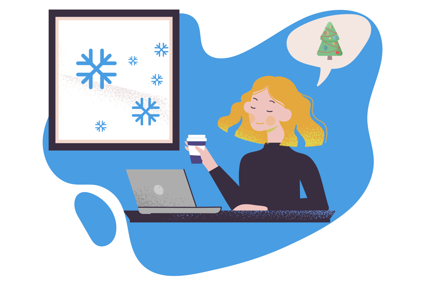 Christmas anticipation Clipart illustration in PNG, SVG
